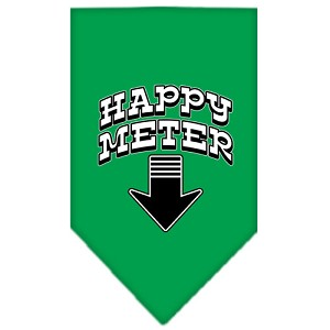 Happy Meter Screen Print Bandana Emerald Green Large