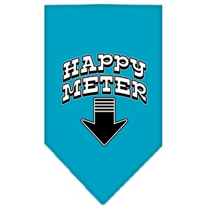 Happy Meter Screen Print Bandana Turquoise Small