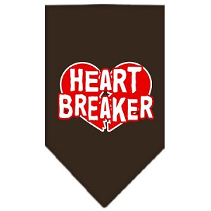 Heart Breaker Screen Print Bandana Cocoa Small