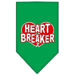 Heart Breaker Screen Print Bandana Emerald Green Small