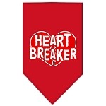 Heart Breaker Screen Print Bandana Red Small