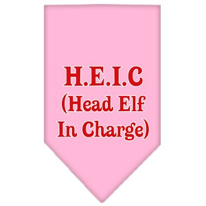 Head elf In Charge Screen Print Bandana Light Pink Large