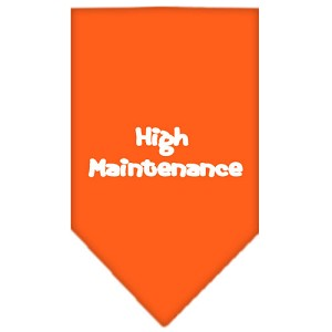 High Maintenance Screen Print Bandana Orange Large