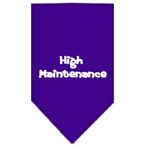 High Maintenance Screen Print Bandana Purple Large