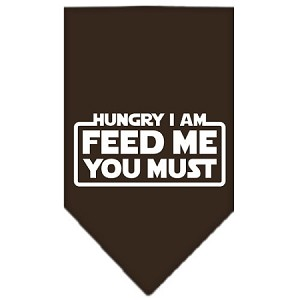 Hungry I Am Screen Print Bandana Cocoa Large