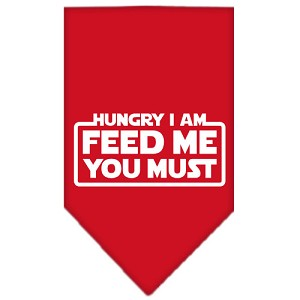 Hungry I Am Screen Print Bandana Red Large