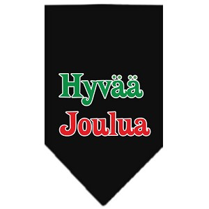 Hyvaa Joulua Screen Print Bandana Black Small
