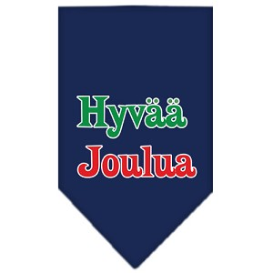 Hyvaa Joulua Screen Print Bandana Navy Blue large
