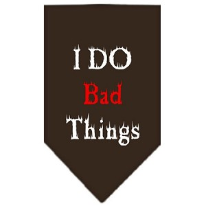 I Do Bad Things Screen Print Bandana Cocoa Large