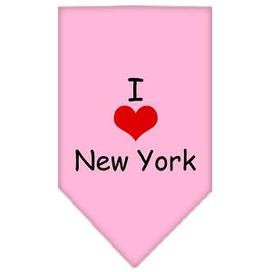 I Heart New York Screen Print Bandana Light Pink Large