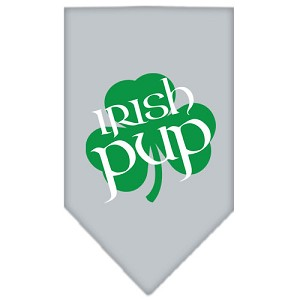 Irish Pup Screen Print Bandana Grey Large