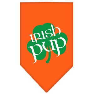 Irish Pup Screen Print Bandana Orange Large