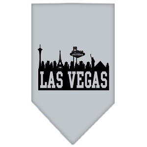 Las Vegas Skyline Screen Print Bandana Grey Small