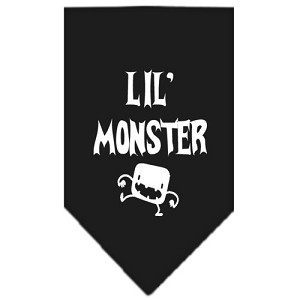 Lil Monster Screen Print Bandana Black Small