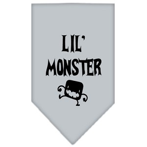 Lil Monster Screen Print Bandana Grey Large