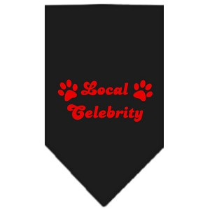 Local Celebrity Screen Print Bandana Black Small