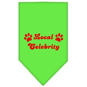 Local Celebrity Screen Print Bandana Lime Green Large