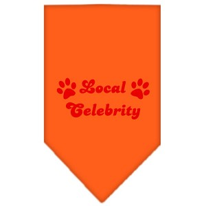 Local Celebrity Screen Print Bandana Orange Large
