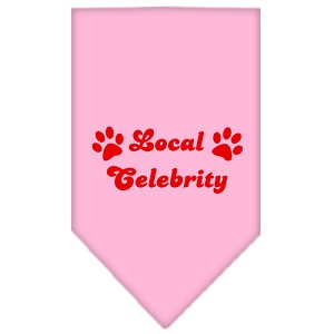 Local Celebrity Screen Print Bandana Light Pink Large