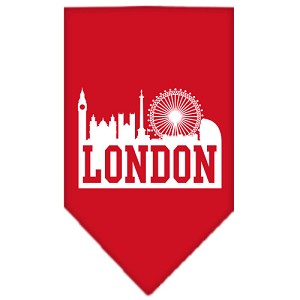 London Skyline Screen Print Bandana Red Large