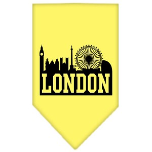 London Skyline Screen Print Bandana Yellow Small