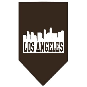Los Angeles Skyline Screen Print Bandana Cocoa Small