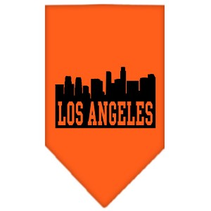 Los Angeles Skyline Screen Print Bandana Orange Small