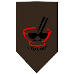 Miso Cool Screen Print Bandana Cocoa Small