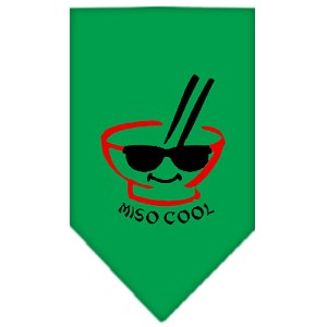Miso Cool Screen Print Bandana Emerald Green Large