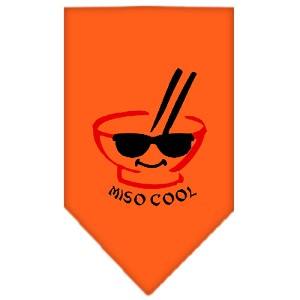 Miso Cool Screen Print Bandana Orange Large