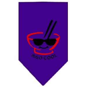 Miso Cool Screen Print Bandana Purple Small