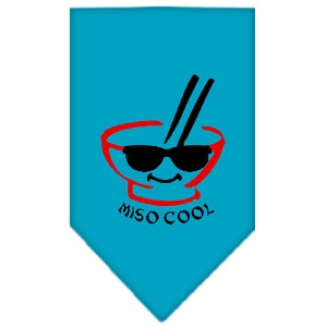 Miso Cool Screen Print Bandana Turquoise Small