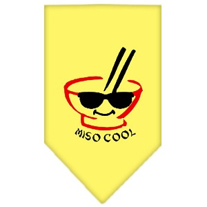 Miso Cool Screen Print Bandana Yellow Large