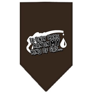 My Kind Of Gas Screen Print Bandana Cocoa Large
