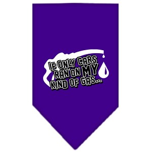 My Kind Of Gas Screen Print Bandana Purple Small