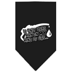 My Kind Of Gas Screen Print Bandana Black Small