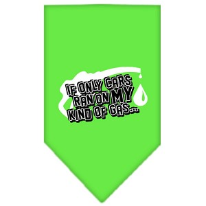 My Kind Of Gas Screen Print Bandana Lime Green Large