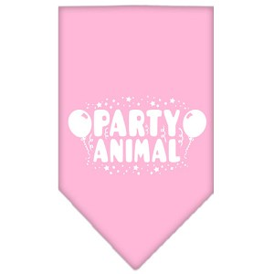 Party Animal Screen Print Bandana Light Pink Small