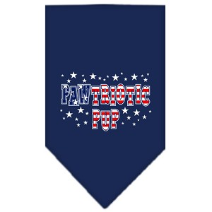 Pawtriotic Pup Screen Print Bandana Navy Blue Small