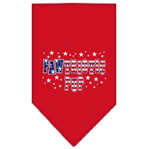 Pawtriotic Pup Screen Print Bandana Red Small