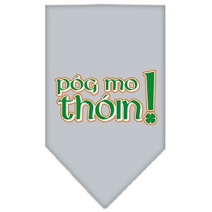 Pog Mo Thoin Screen Print Bandana Grey Small