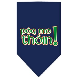 Pog Mo Thoin Screen Print Bandana Navy Blue Small