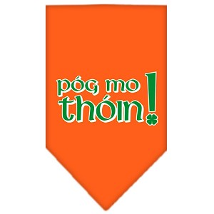 Pog Mo Thoin Screen Print Bandana Orange Large