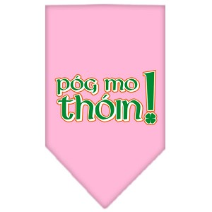Pog Mo Thoin Screen Print Bandana Light Pink Small