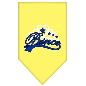 I'm a Prince Screen Print Bandana Yellow Large