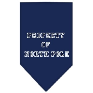 Property of North Pole Screen Print Bandana Navy Blue large