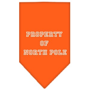 Property of North Pole Screen Print Bandana Orange Small