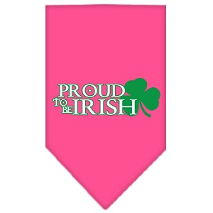 Proud to be Irish Screen Print Bandana Bright Pink Large