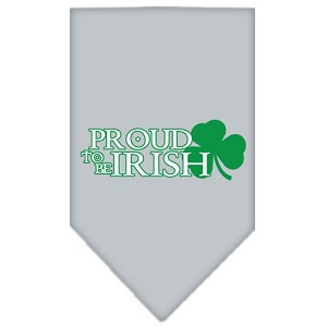 Proud to be Irish Screen Print Bandana Grey Small