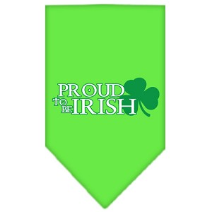 Proud to be Irish Screen Print Bandana Lime Green Large